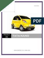Tata Nano Project -1