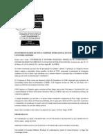 III CONGRESSO DA REDE DE ITCPs E I SIMPÓSIO INTERNACIONAL DE EXTENSÃO UNIVERSITÁRIA E ECONOMIA SOLIDÁRIA