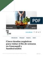 Cinco tiendas orgánicas en Guayaquil y Samborondón