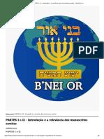 PARTES I e II - Introdução e a relevância dos manuscritos semitas __ Beit B'nei Or