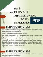 Arts 1stGP - Impressionism & Post -Impressionism.pptx