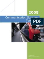 Template for Project Communication Strategy