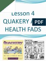 Health 1stGP - Quackery
