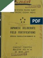 USN CINCPAC Bull. 94-45 Japanesae Deliberate Field Fortications