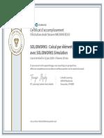 CertificatDaccomplissement_SOLIDWORKS _ Calcul par elements finis avec SOLIDWORKS Simulation