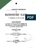 Zur Sprachlichen Beurtellung der MACEDONISCHEN SLAVEN