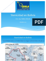 10. Sismicidad en Bolivia