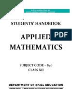 Applied Mathematics (Class XII)