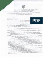 Notă informativă COVID-19 la Otaci, 10 iunie 2020
