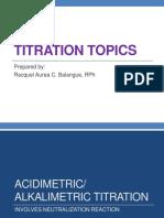 TYPES OF TITRIMETRIC ANALYSIS