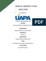 EJERCICIO DERIVADA DE FUNCIONES TRIGONOMÉTRICAS