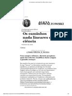 Os caminhos nada lineares da ciência _ Nexo Jornal