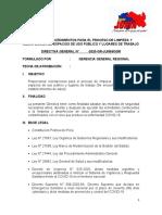 DIRECTIVA-NORMAS Y PROCEDIMIENTOS PARA EL PROCESO DE LIMPIEZA Y DESINFECCIÓN DE ESPACIOS DE USO PÚBLICO Y LUGARES DE TRABAJO.docx