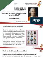 SECCION 8.- DE LA LIBERTAD Y LA NECESIDAD DAVID HUME