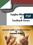 Forum Insights & Distinctions-jayanti Patel