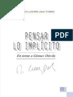 Pensar lo implícito en torno a Gómez Dávila - Alfredo Abad