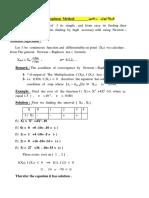 Newton – Raphson Method