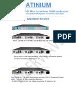 FW IP-IP octo mux scrambler qam modulator