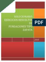SOLUCIONARIO EJERCICIOS RESUELTOS DE FUNDACIONES TIPO ZAPATA