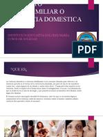 Maltrato intrafamiliar o violencia domestica
