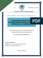 transferts monétaires internationaux vers le cameroun