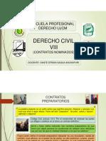 Contratos preparatorios y en favor de tercero(1)