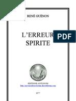 L'erreur spirite - René Guénon - Edition 1977