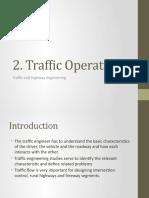 2. Traffic Operations