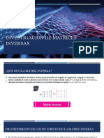 Investigacion de Matrices Inversas