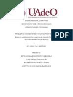 Ensayo educación como base de problemas socioeconómicos de México