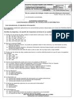 FICHA GRADO 11 CUESTIONARIO GENERAL DE TECNOLOGIA E INFORMATICA