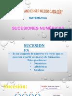 11 PPT, SUCESIONES NÚMERICAS