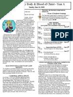 Bulletin - June 14, 2020