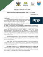 RESOLUCIÓN DIRECTORAL ENTREGA DE MATERIALES