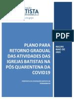Plano para retorno gradual das igrejas batistas na pós quarentena covid 19 (Revisado)