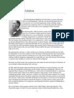 Walter Thomas Prideaux Wolston - Biographi