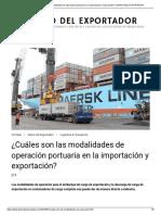 ¿Cuáles son las modalidades de operación portuaria en la importación y exportación_ _ DIARIO DEL EXPORTADOR
