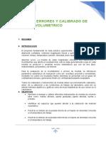 TEORIA DE ERRORES Y CALIBRADO DE MATERIAL VOLUMETRICO