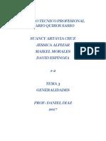 Proyecto Tema 3   Suancy - Nicole - David - Maikel