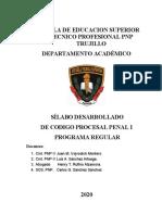 Silabo Codigo Procesal Penal 2020 Para Eetspnp Trujillo- Final Ok