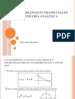 Los 2 problemas fundamentales de la geometría analítica