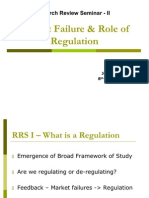 Market Failure & Role of Regulation