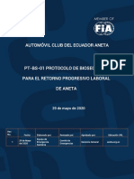 PROTOCOLO DE BIOSEGURIDAD ANETA 2020