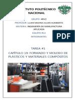 CAPITULO 19, FORMADO Y MOLDEO DE PLÁSTICOS Y MATERIALES COMPÓSITOS.docx