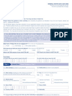 Application Form VAF1A - General Visitor Form