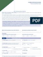 Application Form VAF1E - Academic Visitor Form
