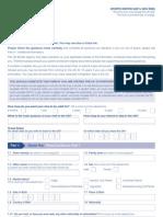 Application Form VAF1J - Sports Visitor Form