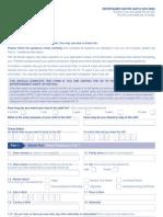 Application Form VAF1K - Entertainer Visitor Form