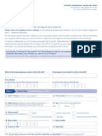 Application Form VAF3B - Student Dependent Form