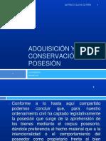 DIAPOSITIVA 07 - ADQUISICION Y CONSERVACION DE LA POSESION